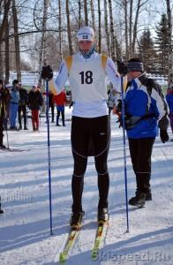 Александр Архипов, на старте лыжных соревнований на приз Галиева, 2010 год