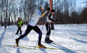 Александр Архипов, старт на лыжных соревнованиях на приз Галиева, 2010 год