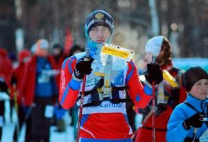 Александр Архипов на старте лыжного ориентирования