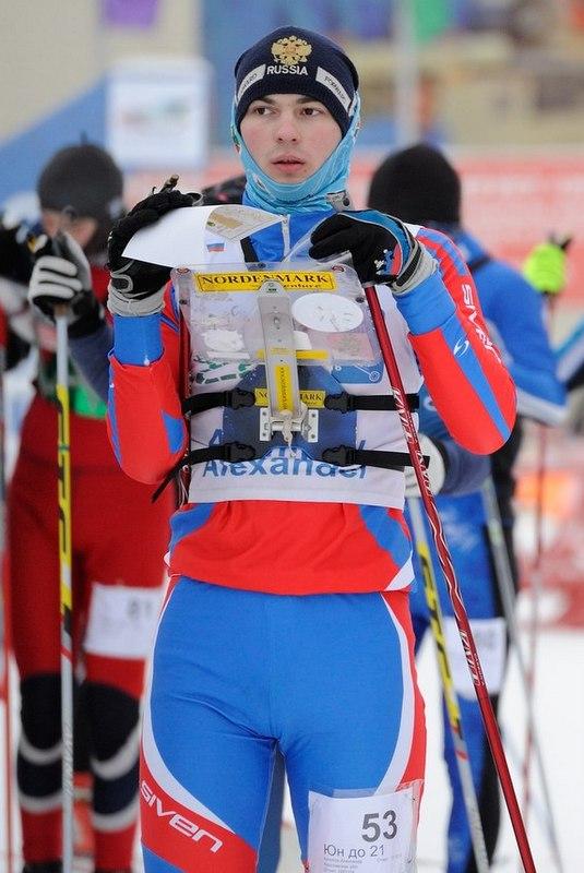 Фотография Александра Архипова, готовящегося к старту злополучной гонки