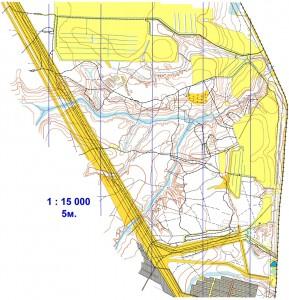 Летняя спортивная карта Мясокомбинат, 1997, Сыктывкар