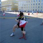 Участник спортивного лабиринта на КП (Стефановская площадь Сыктывкара)