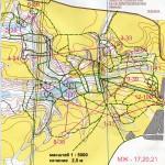 Карта с дистанцией МЖ-20,21